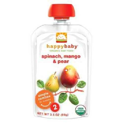 Happy Baby Spinach, Mango & Pear Stage 4 Food (16x4.22 Oz)