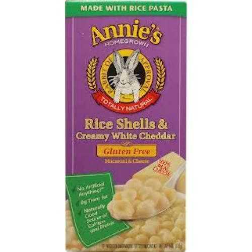 Annie's Rice Shells And Creamy White Cheddar Gluten Free (12x6Oz)
