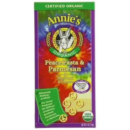 Annie's Peace Pasta & Parmesan (12x6 Oz)