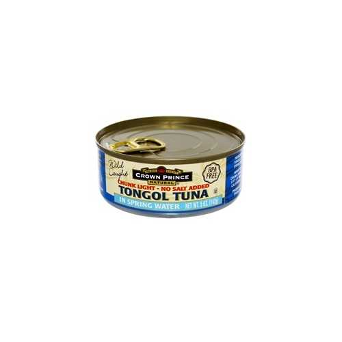 Crown Prince Natural Chunk Light Tongol Tuna In Spring Water (12x5Oz)