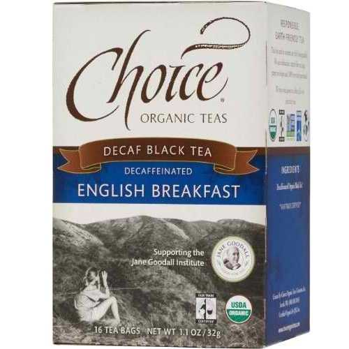Choice Organic Teas Decaf English Breakfast (6x16 Bag)