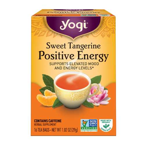 Yogi Teas Sweet Tangerine Positive Energy Tea (6x16 Bag)
