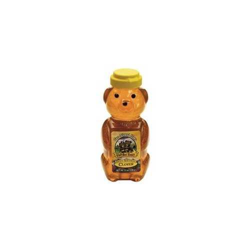 Glorybee Squeezable Organic Honey Bear, Clover (6x12Oz)