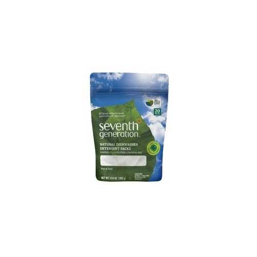 Seventh Generation Natural Dishwasher Detergent Pacs, Free & Clear (12x20 CT)