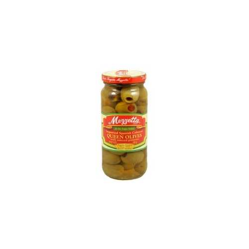 Mezzetta Spanish Colossal Queen Olives With Minced Pimento (6x10Oz)