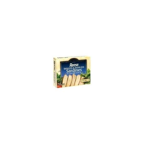 Reese Plain Sardines in Olive Oil (10x4.37 Oz)