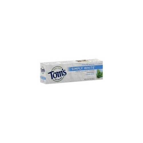 Tom's Of Maine Simply White Toothpaste Clean Mint (6x4.7Oz)