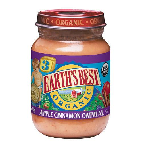 Earth's Best Baby Foods Og2 Baby Apple Cinnamon Oat (12x6Oz)