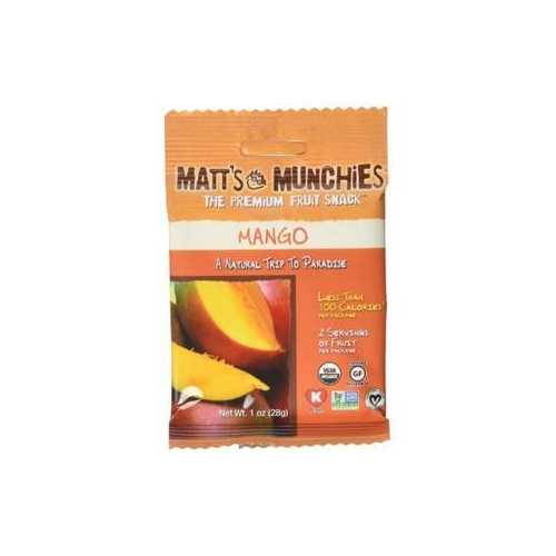 Matt's Munchies Organic Mango Fruit Snack (12x1 OZ)