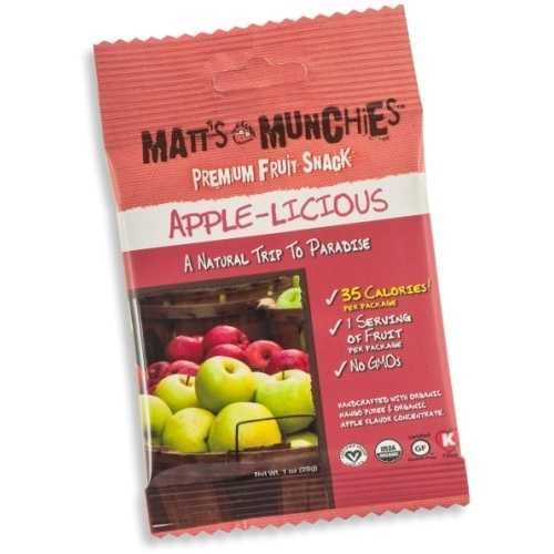 Matt's Munchies Organic Apple-Licious  (12x1 OZ)