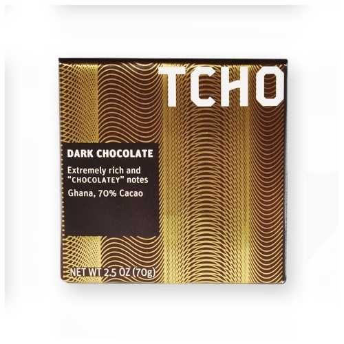 Tcho Dark Chocolate BAR 70%  (12x2.5 OZ)
