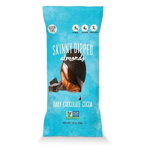 Wild Things Mini Skinny Dipped Almonds in Dark Chocolate Cocoa  (48x0.46 OZ)