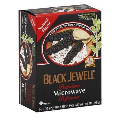 Black Jewell Premium Microwave Kettle Popcorn  (6x3 PACK)