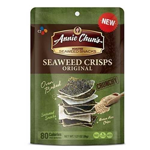 Annie Chun's Seaweed Crisps Original (10x1.27 OZ)