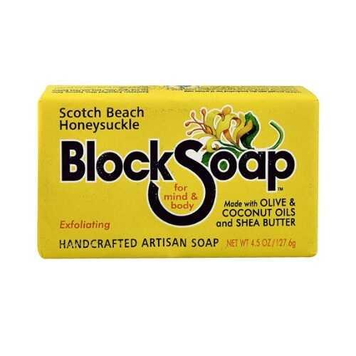 Block Soap Bar Scotch Beach Honeysuckle  (12x4.5 OZ)