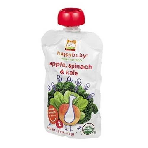 Happy Baby Organic Apple Spinach Kale Baby Food (16x3.5 OZ)