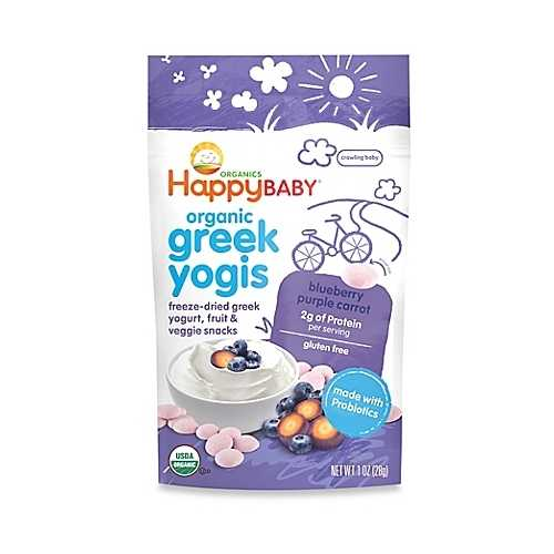 Happy Baby Happy Yogis Blueberry and Purple Carrot Organic Yogurt  (8x1 OZ)