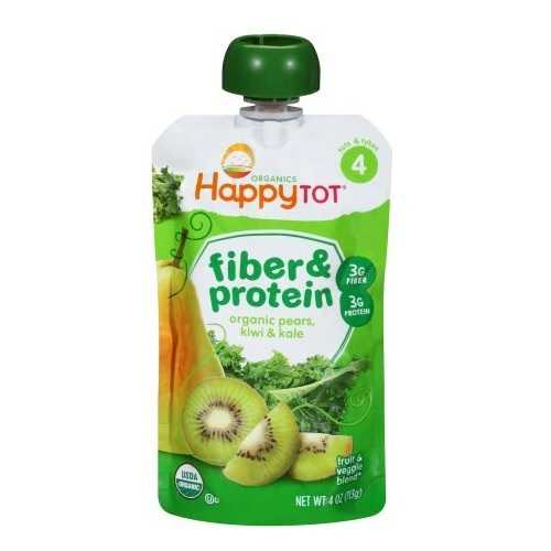 Happy Tot Fiber & Protein Pear, Kiwi & Kale (16x4 OZ)