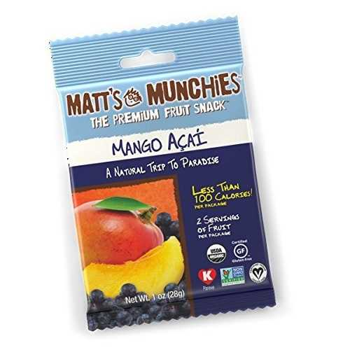 Matt's Munchies Kosher Premium Fruit Snack Mango Acai (12x1 OZ)