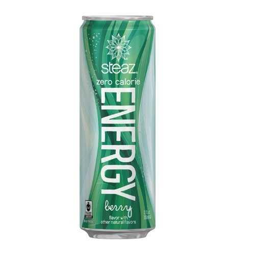Steaz Organic Energy Zero Calorie Berry (12x12 OZ)