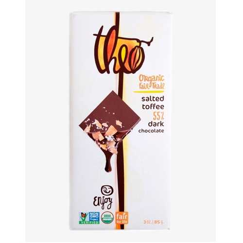 Theo Chocolate Salted Toffee (12x3 OZ)