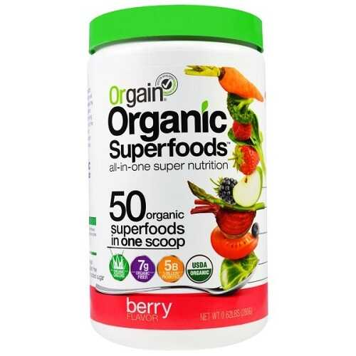 Orgain Organic Superfoods, All-In-One Super Nutrition, Berry Flavor (1X0.62 Lb  )