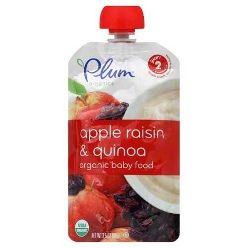 Plum Organics Apple Raisin & Quinoa, 2 (6X3.5 OZ)
