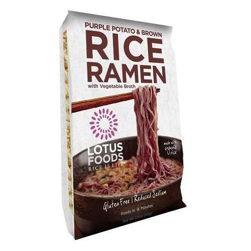 Lotus Foods Purple Potato and Brown Rice Ramen with Vegetable Soup (10x2.8 OZ)