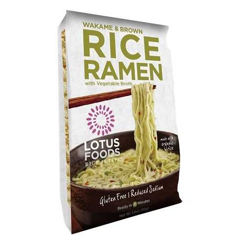 Lotus Foods Wakame & Brown Rice Ramen With Vegetable Soup (10x2.8 OZ)