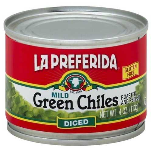 La Preferida Diced Green Mild Chiles (12x4 OZ)