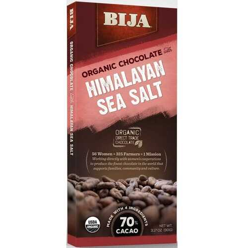 Bija Himalayan Sea Salt Chocolate Bar (10x3.17 OZ)