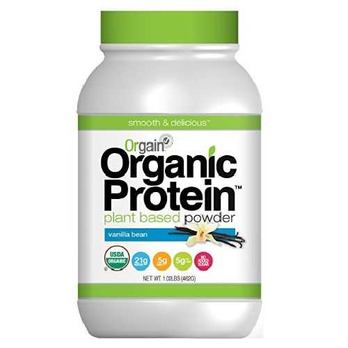Orgain Organic Plant Based Protein Powder, Sweet Vanilla Bean (1X1.02 Lb  )