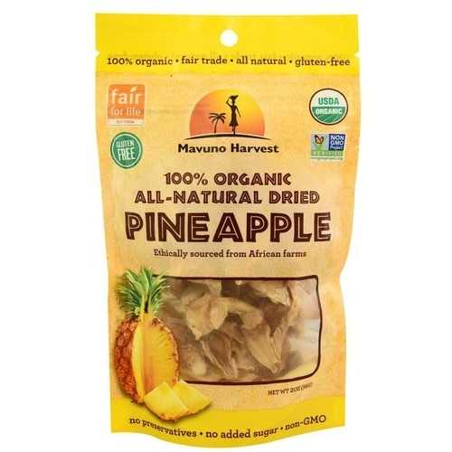 Mavuno Harvest Organic Dried Pineapple (6x2 OZ)