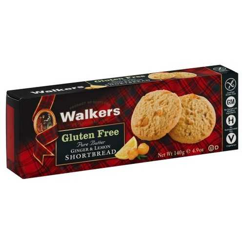 Walkers Ginger & Lemon Shortbread (6x4.9 OZ)