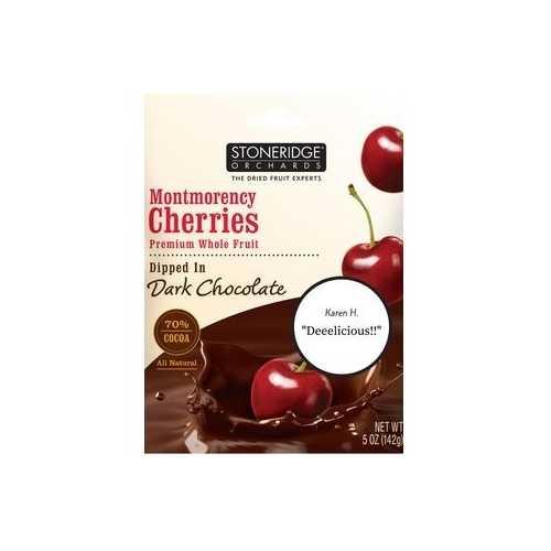Stoneridge Orchard Cherries Dipped in Dark Chocolate (6x5 OZ)