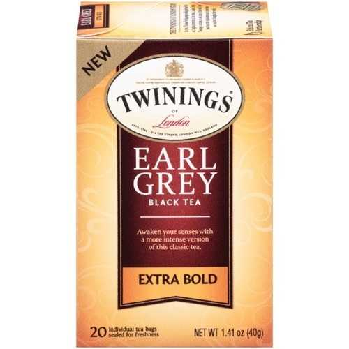 Twinings Extra Bold Earl Grey Black Tea (6x20 Ct)