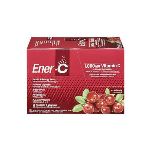 Ener-C Vitamin Drink Mix Cranberry 1000MG (1x30 Ct)