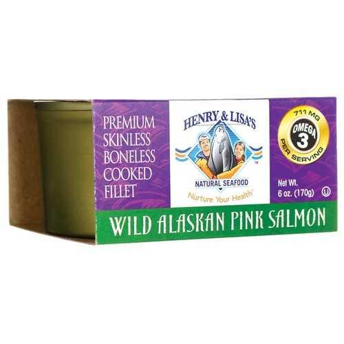Henry & Lisa's Natural Seafood Wild Alaskan Pink Salmon (12x7.5 OZ)