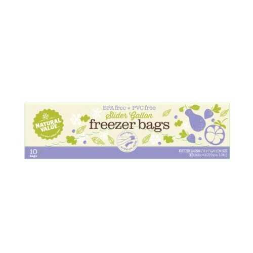 Natural Value Slider Gallon Freezer Bags (12x10 Ct)