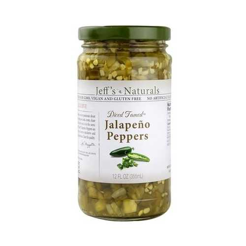 Jeff's Naturals Diced Tamed Jalapeno Peppers (6x12 OZ)
