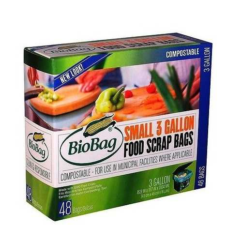 Bio Bag Compostable Small 3 Gallon Bags (12x48 Ct)