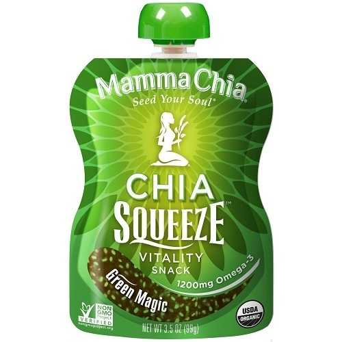 Mamma Chia Organic Green Magic Squeeze (6x3.5 OZ)