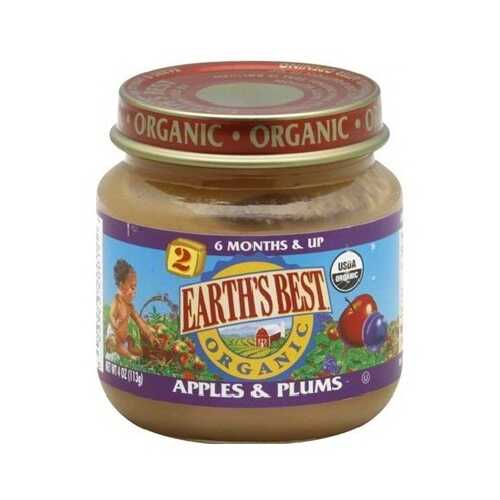 Earth's Best Baby Foods Baby Apple/Plum (12x4OZ )
