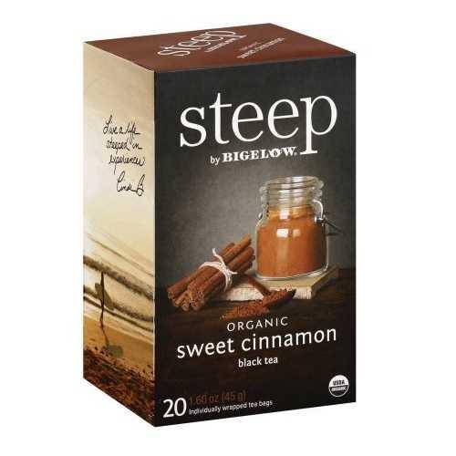 Bigelow Steep Organic Sweet Cinnamon Black Tea (6x20 BAG )
