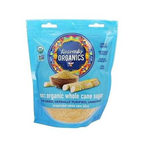 Heavenly Organics 100% Organic Whole Cane Sugar  (6x20 OZ)