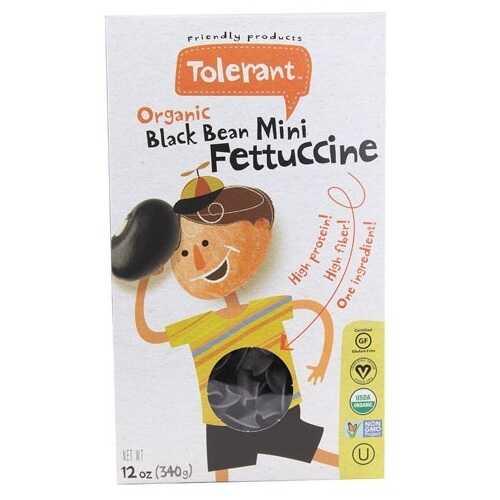 Tolerant Food Organic Black Bean Mini Fettuccine (6x12 OZ)