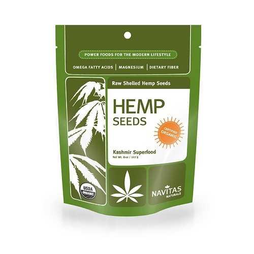 Navitas Naturals Organic Hemp Seeds Shelled (12x8 OZ)