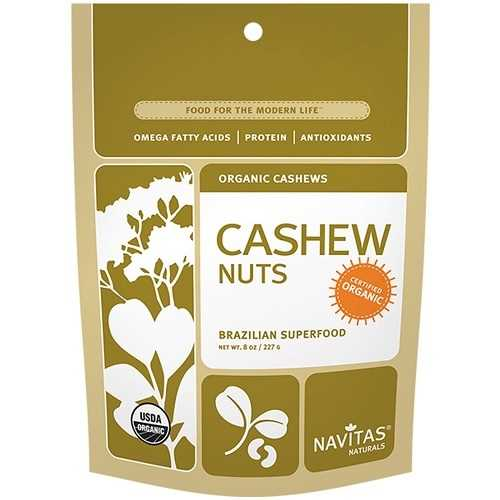 Navitas Naturals Organic Cashew Nuts (12x8 OZ)
