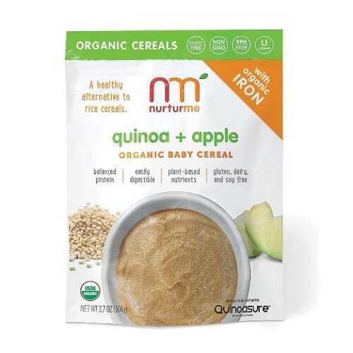 Nurturme Infant Cereal, Quinoa Plus Apple (6X3.7 OZ)