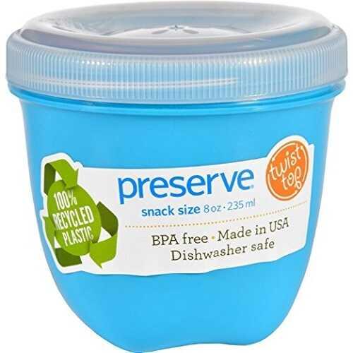 Preserve Food Storage Container Aqua 8Oz (12X1 Ct)